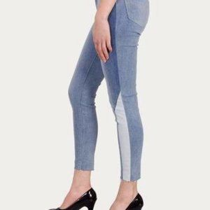 Levi's High Rise Skinny Color Block Ankle Jeans
